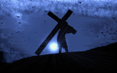 Man And Cross by montag451