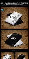 3 in 1 Styles Black and White Business Card by nazdrag