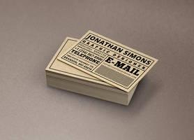 Cardboard Ticket Business Card by nazdrag