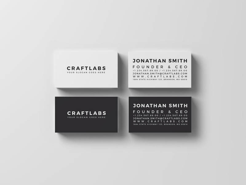 simple personal business card