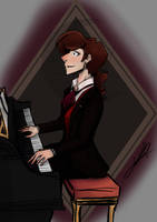 Henry at the Piano (practice) by sapphiremoonlight14
