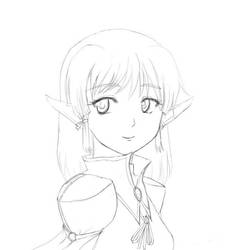 Elf drawing wip by khclupus