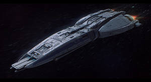 Victory-class starfighter supercarrier by Shoguneagle