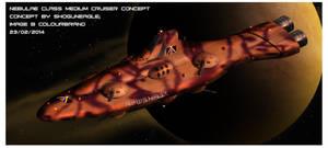 Nebulae-class medium cruiser by Shoguneagle
