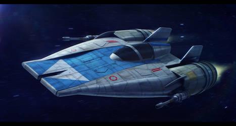 Incom RZ-1 Mark III A-Wing prototype (Krystine) by Shoguneagle
