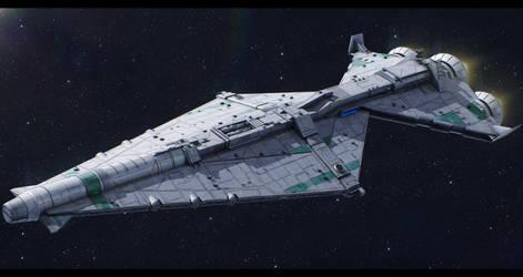 CEC Guile-class battlecruiser by Shoguneagle