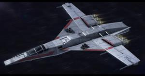 Koensayr/Incom TB-91 Star Mace bomber by Shoguneagle