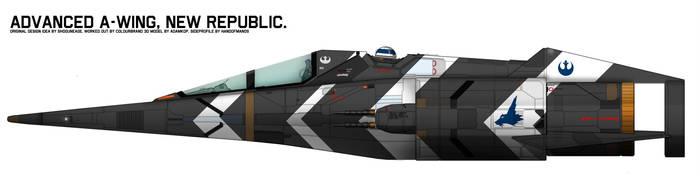 Incom RZ-1 Mark IV Super A-Wing Ice Fox Squadron by Shoguneagle