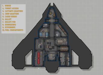 Koros Spaceworks LH802 deckplans by Shoguneagle