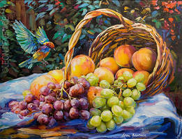 Still life Oil Painting by Leon Devenice by leondevenice