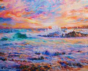 Memories in California seascape by Leon Devenice by leondevenice