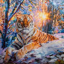 Tiger art, tiger painting , Leon Devenice by leondevenice
