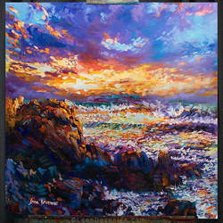 Sunset Painting,Sea painting, Leon Devenice by leondevenice
