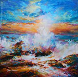Seascape painting , Leon Devenice by leondevenice