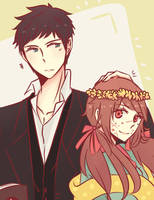 Young Alfred and Elena by ijuraru