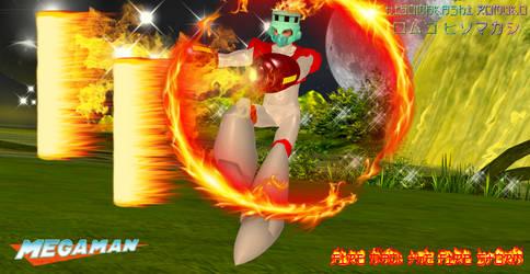 Mega Man: Fire Man - The Fire Storm by CrystalRomuko