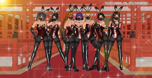 The Bunny Ninjas by CrystalRomuko