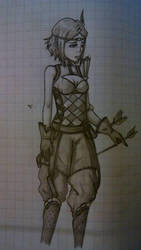 Old drawing - Noire by CalixtaTepes
