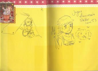 Birthday doodle by CalixtaTepes