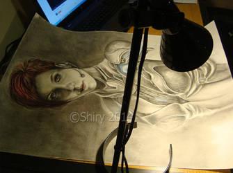 Self portrait - WIP by sheeroo3