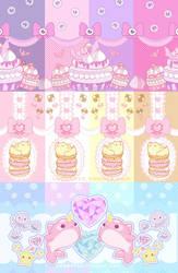 Cute Print Pattern Set by 3lie