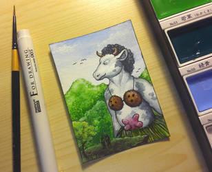 King Cow by ElorenArt