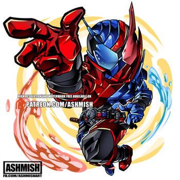 Kamen Rider Build Rabbit Tank by ashmish
