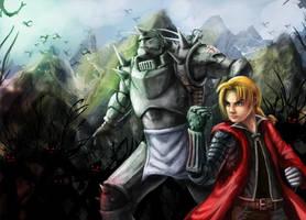Fullmetal Alchemist, Fanart by gbrsou