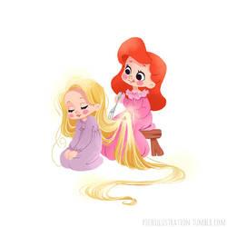 Rapunzel x Ariel by Chpi