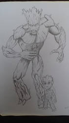 Groot and Babby Groot by blood083
