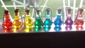 Bottled Potion Necklaces by Saint-chan
