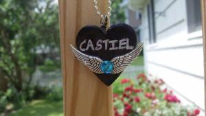Castiel Heart Necklace by Saint-chan