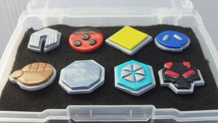 Johto League Badges by Saint-chan