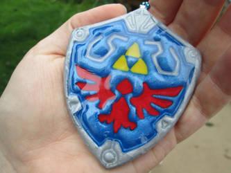Hylian Shield Necklace by Saint-chan