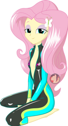 Wetsuit Fluttershy by RexPony