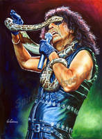Alice Cooper painting portrait poster art print by SpirosSoutsos