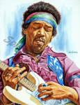 Jimi Hendrix painting portrait by SpirosSoutsos