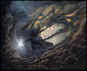 Morgoth and Ungoliant by Protoguy