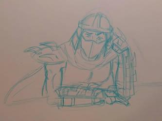 My old Sketch of Shredder Redone by transformersmix