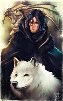 Jon Snow (if he was Rhaegar and Lyanna's Child) by TheAngryMammoth