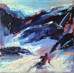 Backcountry skiing by BozhenaFuchs
