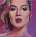 Contemporary portrait of Jennifer Lawrence by BozhenaFuchs