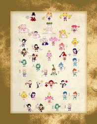 All Chibi Sailors by KinnoHitsuji