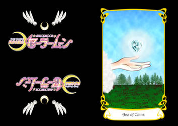 Sailor Moon Tarot Card--Ace of Coins by KinnoHitsuji