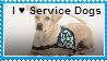 I Love Service Dogs Stamp by ilikehorses2