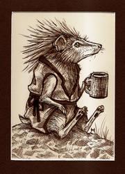Redwall Hedgehog by Tai-Shou-Tsubasa