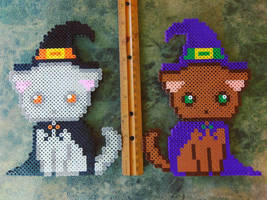 Witch Cats by perler-me-this