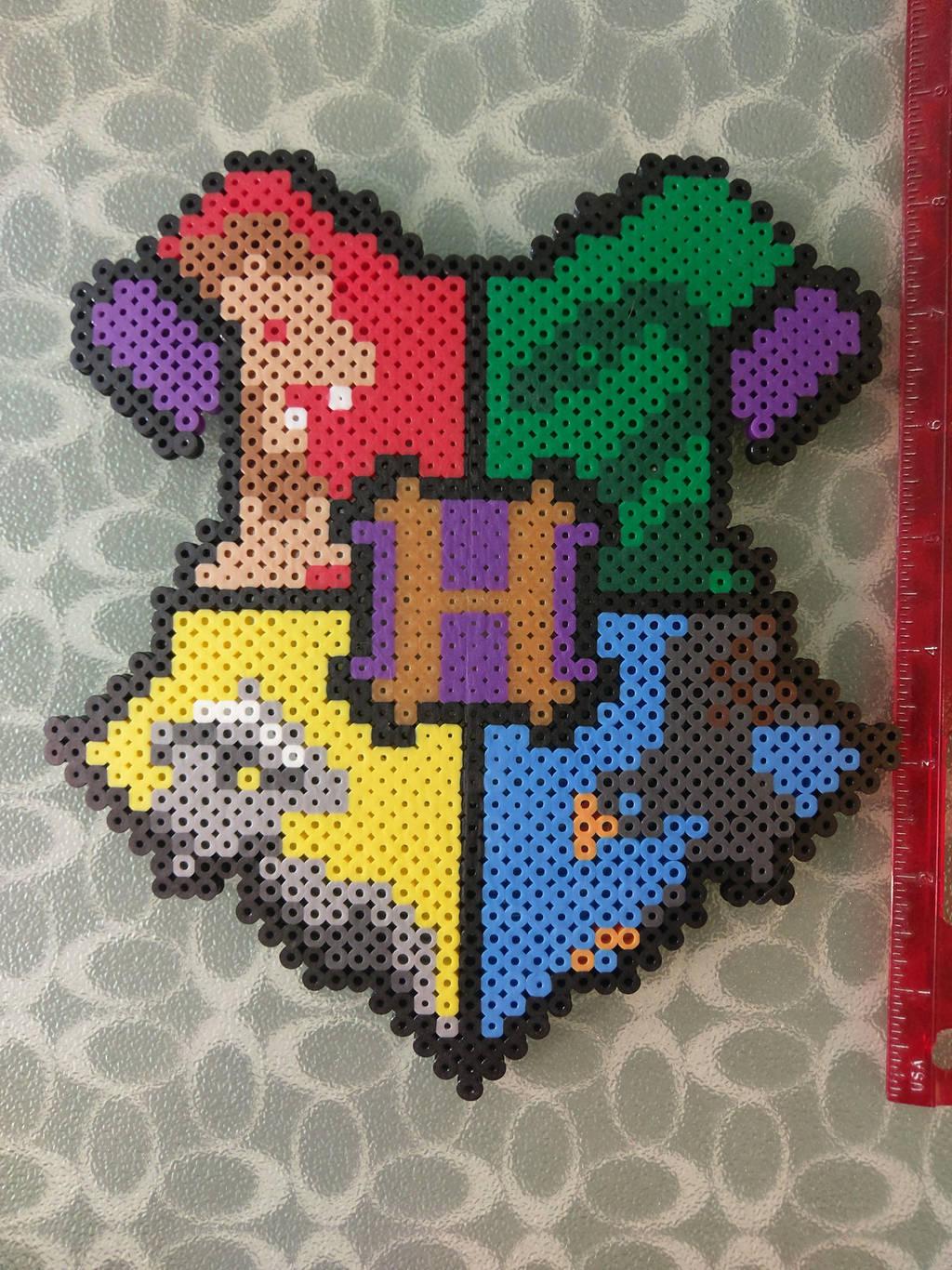 Hogwarts School Crest by perler-me-this