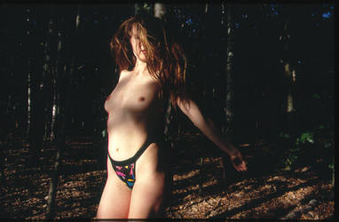 another redhead in a forest by Pippa-pppx
