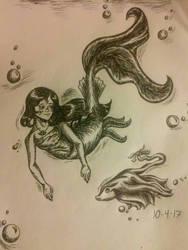 Inktober- Underwater (Day 4) by RadiantSound